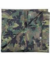 Hobby groen camouflage afdekzeil m