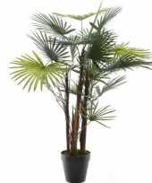 Hobby groene fortunei handpalm kunstplant zwarte pot
