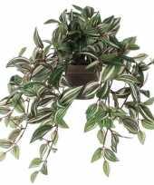 Hobby groene tradescantia vaderplant kunstplant hangende pot 10155604