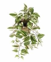 Hobby groene tradescantia vaderplant kunstplant hangende pot
