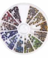 Hobby hotfix gekleurde ronde strass steentjes stuks