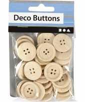 Hobby houten knopen stuks 10092936