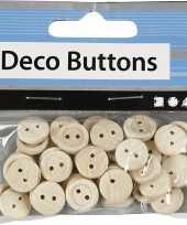Hobby houten knopen stuks