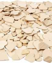 Hobby houten mozaiek hartjes stuks