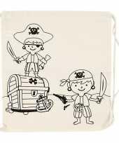 Hobby inkleurbaar rugzakje piraat