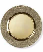 Hobby kaarsenbord plateau goud structuur rond