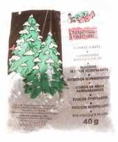 Hobby kerstboom versiering glitter sneeuwvlokjes gram