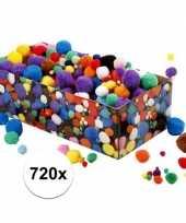 Hobby knutsel pompons assorti stuks