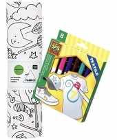 Hobby knutsel stoffen kleurplaat incl stiften kinderen 10158239