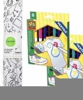 Hobby knutsel stoffen kleurplaat incl stiften kinderen