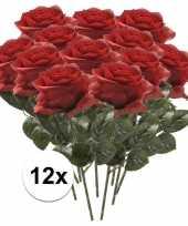 Hobby kunstbloem roos simone rood stuks 10101117