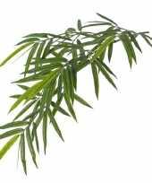 Hobby kunstplant groene bamboe hangplant tak uv bestendig 10172562