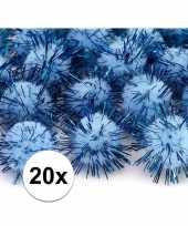Hobby lichtblauwe knutsel pompons mm