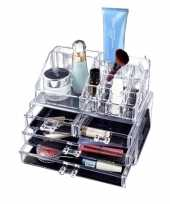 Hobby make up organizer opberger houder transparant afneembare lades