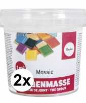 Hobby mozaiek voegmiddel wit gram 10135064