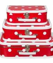 Hobby naaikoffertje rood polkadot