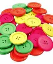 Hobby neon gekleurde knopen stuks