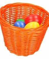 Hobby oranje paasmandje gekleurde eieren