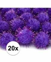 Hobby paarse knutsel pompons mm