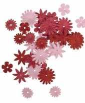 Hobby papieren knutsel bloemen stuks rood roze