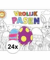 Hobby papieren paas kleurplaat placemats stuks 10105635