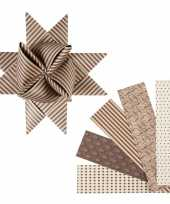 Hobby papieren stroken bruin beige stuks