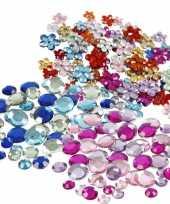 Hobby plak diamantjes steentjes mix set stuks