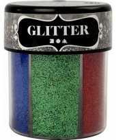 Hobby potje glitters felle kleuren