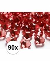 Hobby rode decoratie hartjes diamantjes stuks 10100077