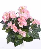 Hobby roze begonia kunstplant binnen