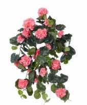 Hobby roze geranium kunstplant hangplant