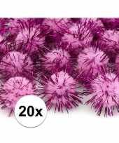 Hobby roze knutsel pompons mm