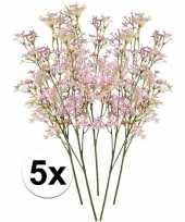 Hobby roze kroonkruid kunstbloemen tak 10105913