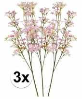 Hobby roze kroonkruid kunstbloemen tak