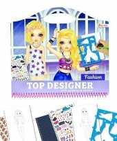Hobby schetsboek kleding ontwerpen stickers sjablonen