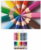 Hobby schetsboek potloden thema a paginas viltstiften