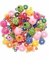 Hobby sieraden maken kralenmix set rond stippen