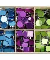 Hobby spiegel mozaiek tegels kleuren mm stuks