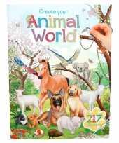 Hobby stickerboek dieren wereld jongens