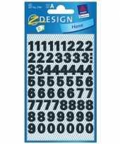Hobby stickervel cijfers zwart mm stuks 10143836