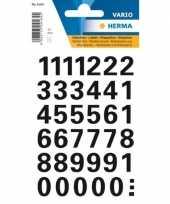 Hobby stickervellen zwarte cijfers zwart mm 10207122