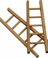 Hobby stuks houten mini laddertjes