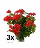 Hobby stuks kunst oostenrijkse geraniums planten rood 10114884