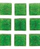 Hobby stuks vierkante mozaieksteentjes groen