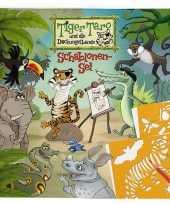 Hobby teken tijger sjablonenset