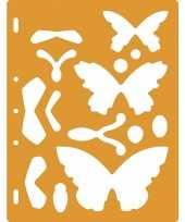 Hobby tekensjabloon vlinders