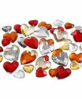 Hobby valentijn zakje hartjes strass steentjes rood mix totaal stuks