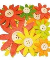 Hobby vilt geel oranje groen vilten bloemen knoop c