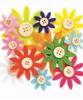 Hobby vilt gekleurde vilten bloemen knoop