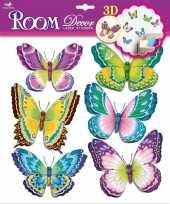 Hobby vlinder stickers set groen paars d